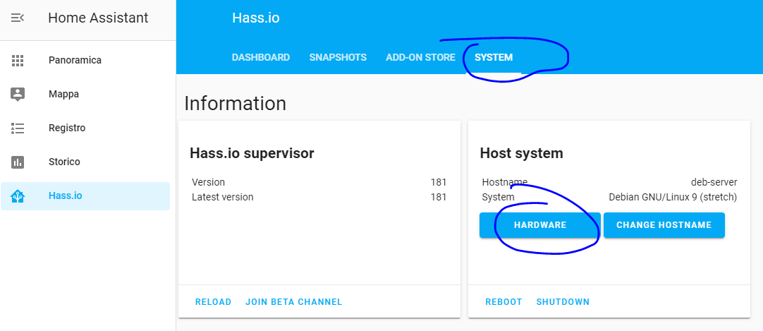 Hass.io System Hardware
